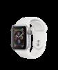 Apple Watch Series 4 GPS, 40 мм, алюминий серебристого цвета, спортивный ремешок белого цвета