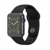Apple Watch Sport 38mm Space Gray Aluminum Case with Black Sport Band