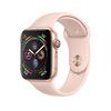 Apple Watch Series 4 GPS, 44 мм, алюминий золотого цвета, спортивный ремешок цвета розовый песок